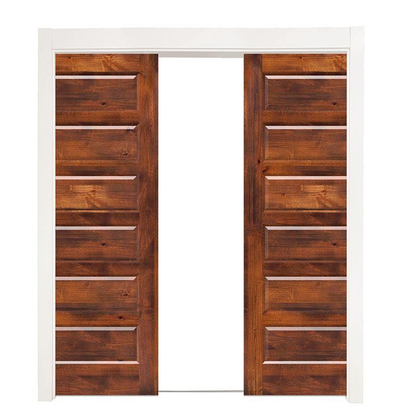6 Panel Double Converging Pocket Doors