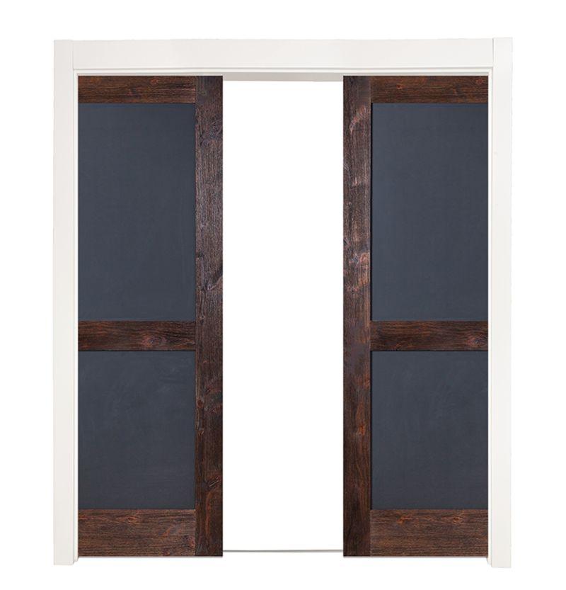 Chalkboard Double Converging Pocket Doors