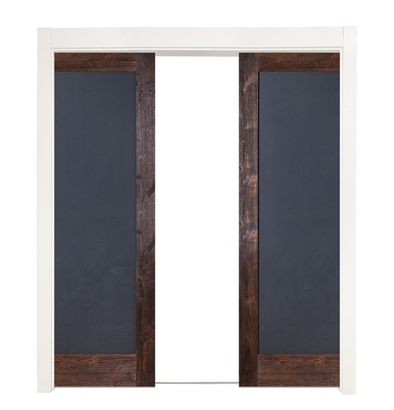 Chalkboard Full Double Converging Pocket Doors