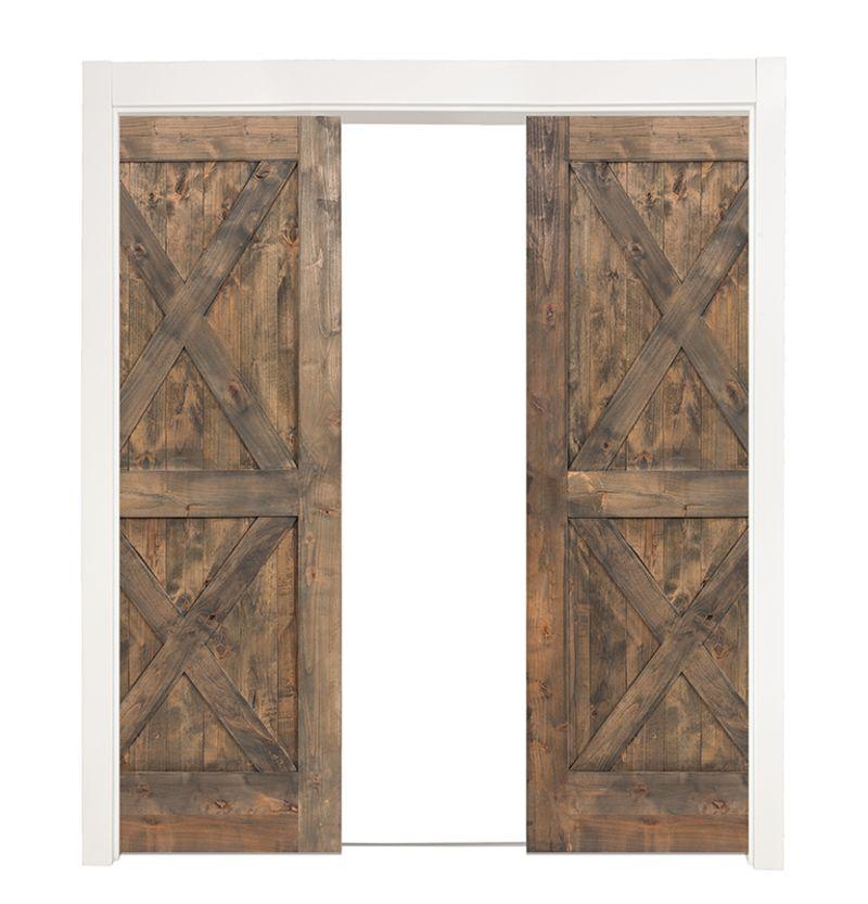 Double X Double Converging Pocket Doors