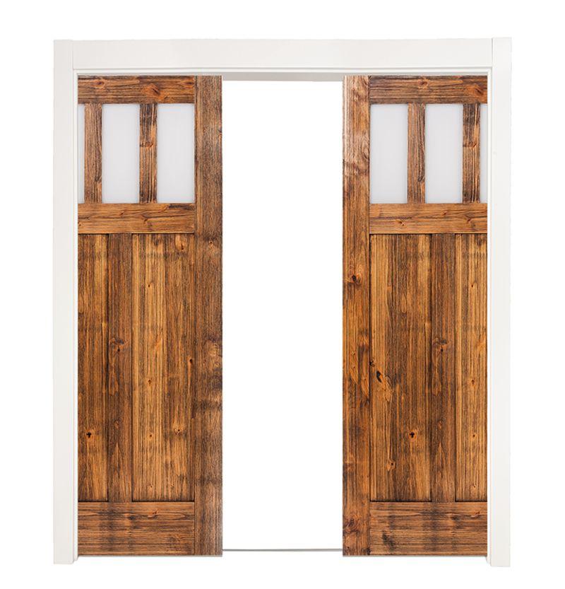 Craftsman Double Converging Pocket Doors