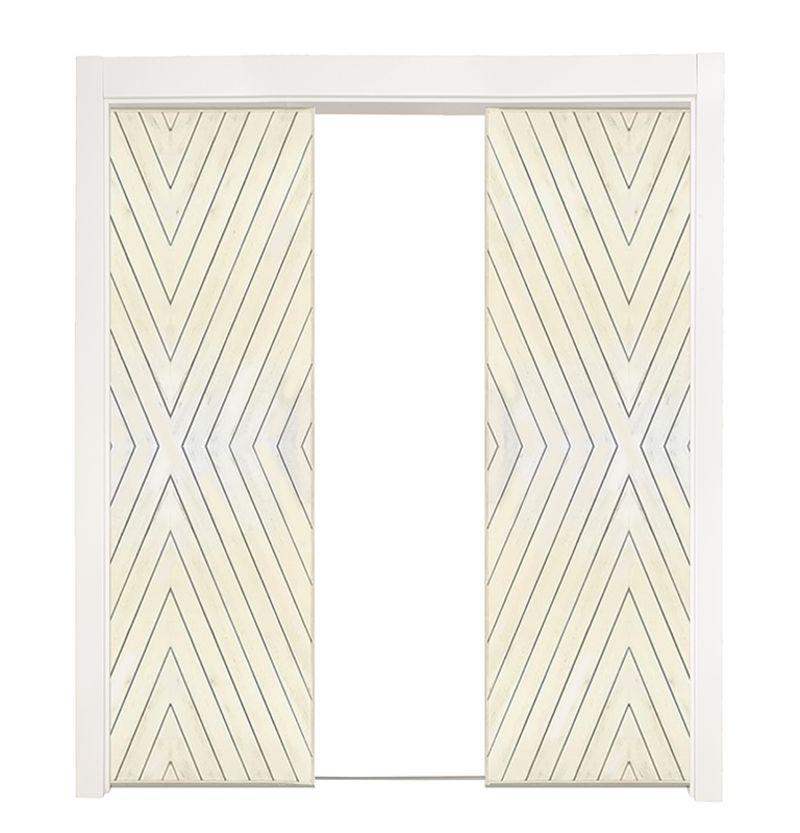 Fraction Double Converging Pocket Doors