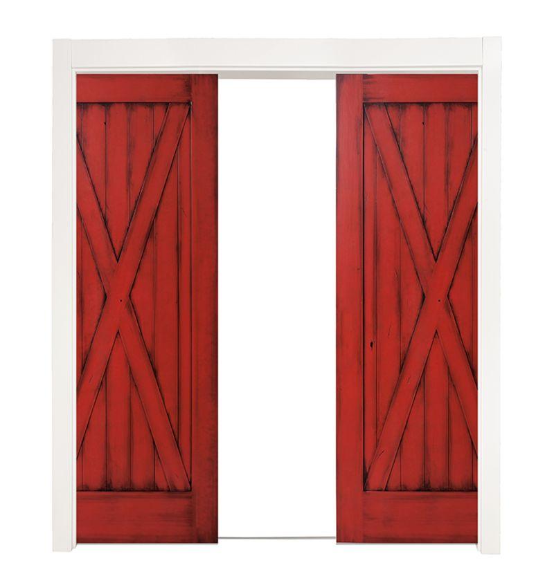 Full X Double Converging Pocket Doors