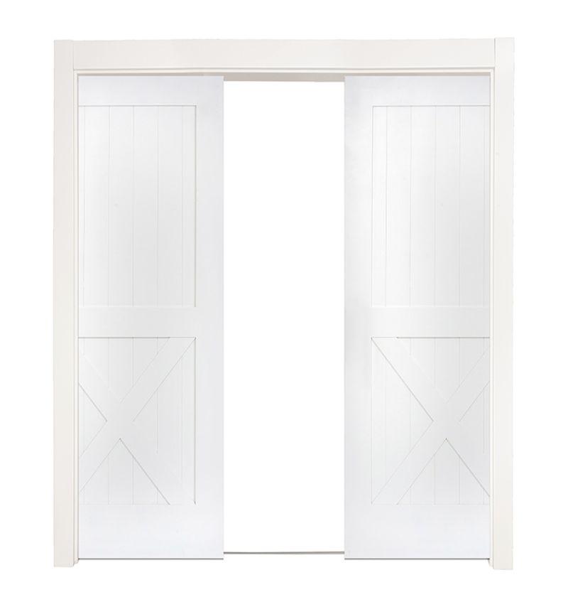 Half X Double Converging Pocket Doors