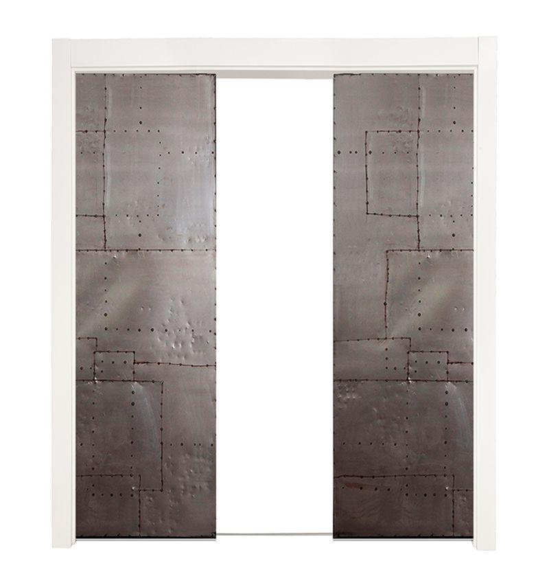 Mountain Scrap Double Converging Pocket Doors