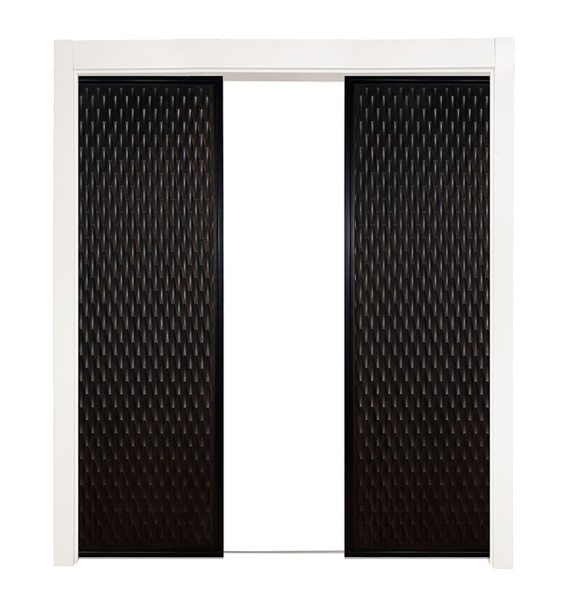 Scallop Double Converging Pocket Doors