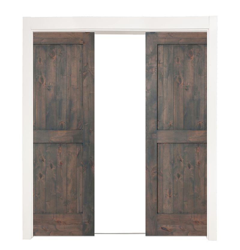 Two Panel Double Converging Pocket Doors