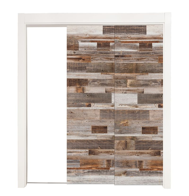Barn Wood Reclaimed Bypassing Pocket Doors