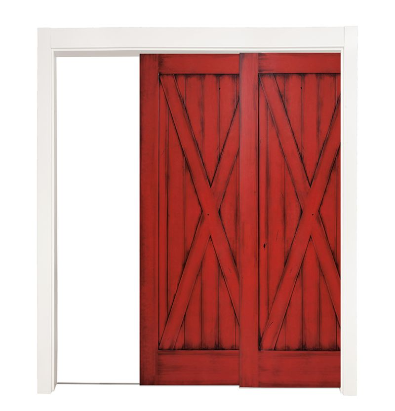 Full X Bypassing Pocket Doors