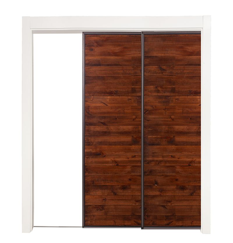 Mountain Modern Bypassing Pocket Doors