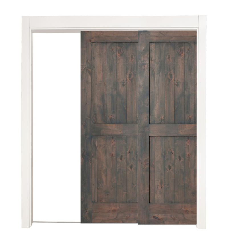 Two Panel Bypassing Pocket Doors