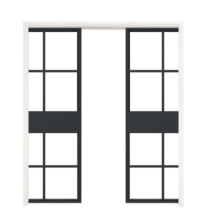 Terrace Double Converging Pocket Doors