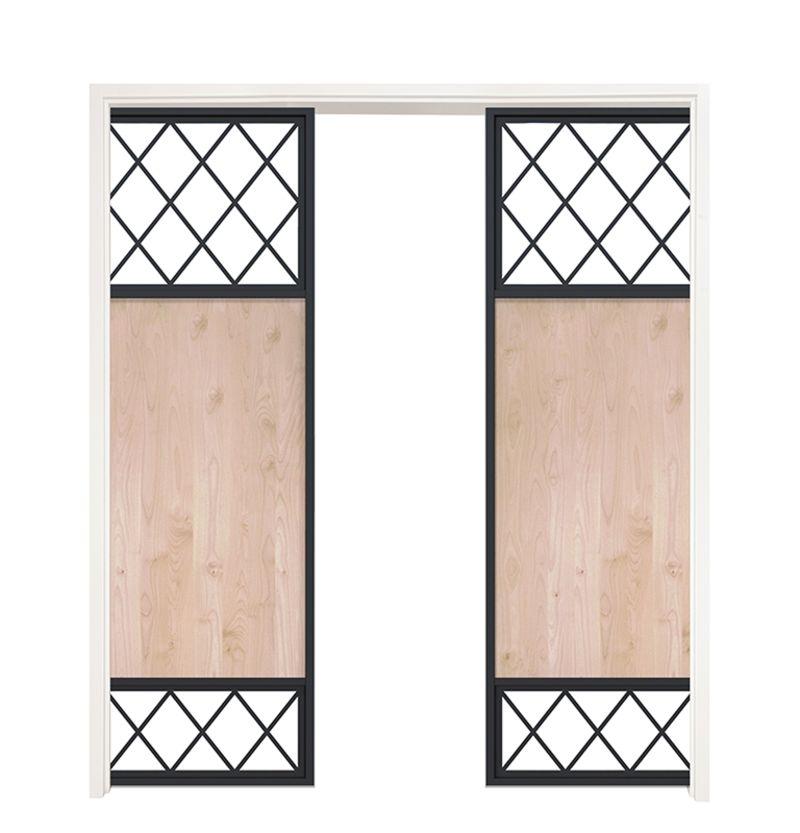 Tiller Shed Double Converging Pocket Doors