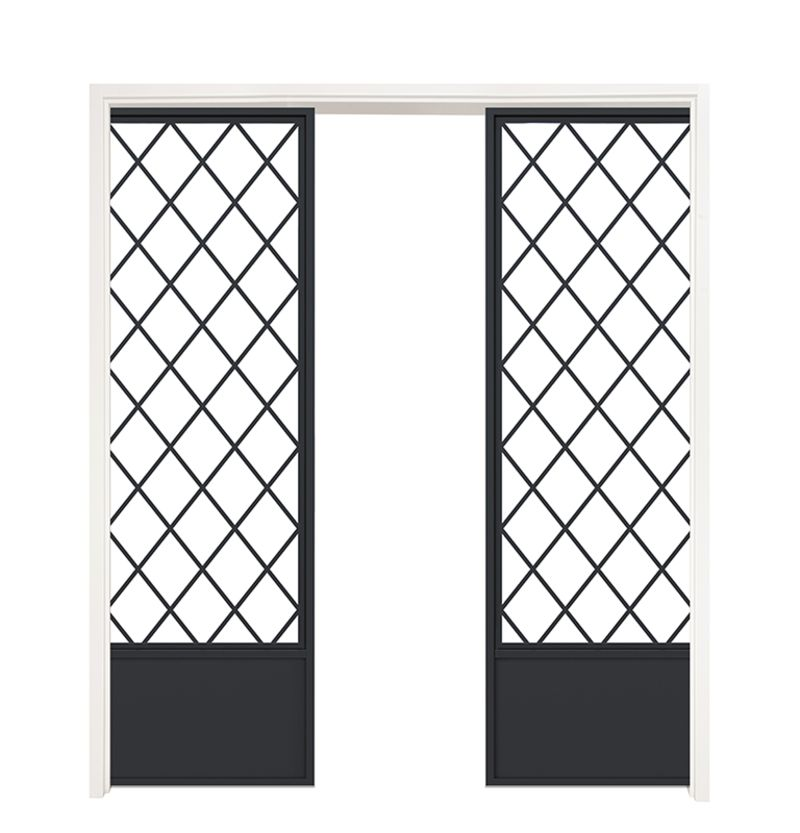Tower Hill Double Converging Pocket Doors