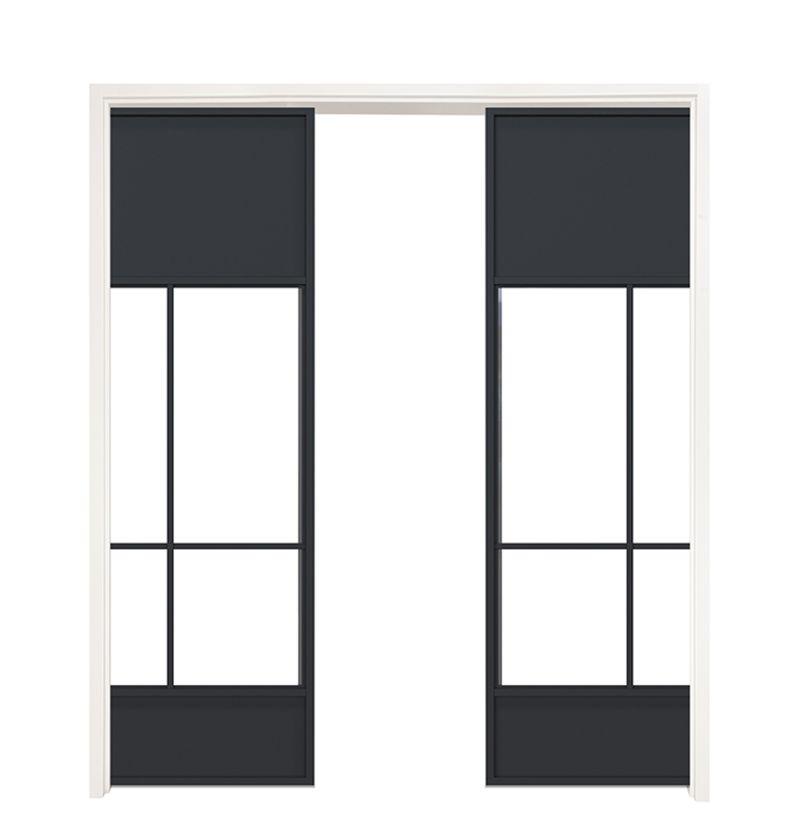 Name Sake Double Converging Pocket Doors