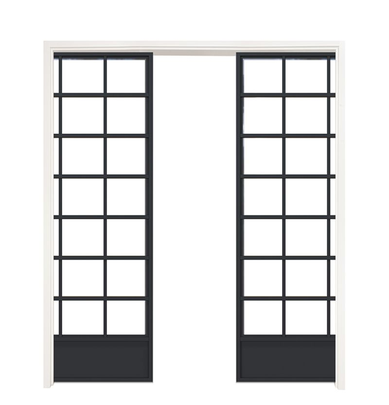 Grand Hall Double Converging Pocket Doors