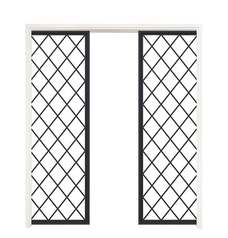 Chateaux Double Converging Pocket Doors