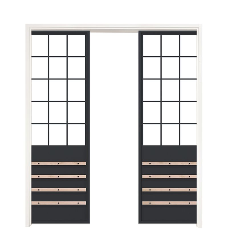 Homeland Double Converging Pocket Doors
