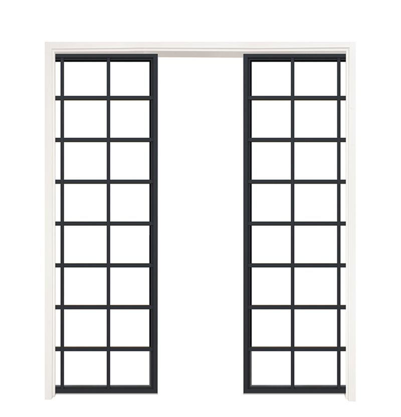 Conservatory Double Converging Pocket Doors