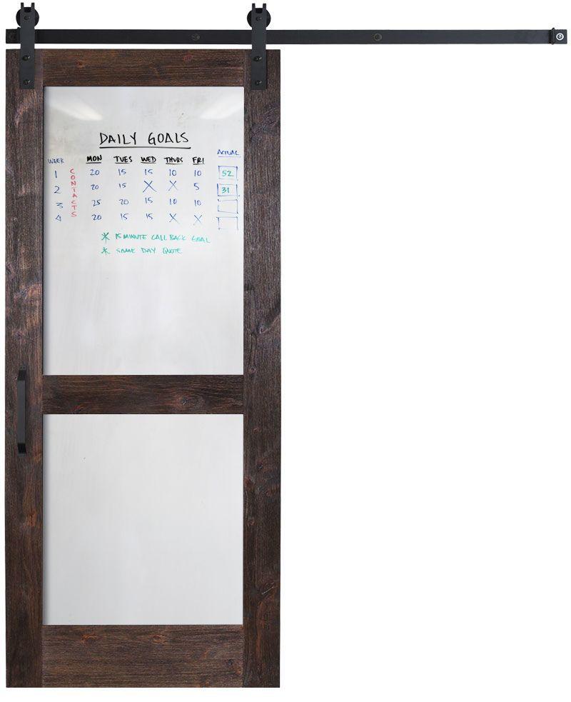 Split Whiteboard Barn Door