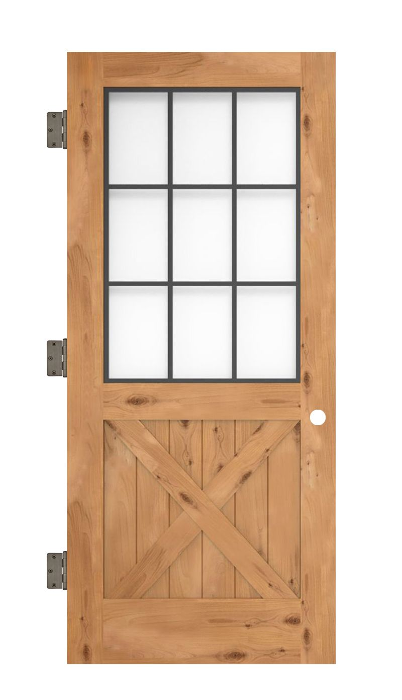 Farmhouse French Half X Slab Door