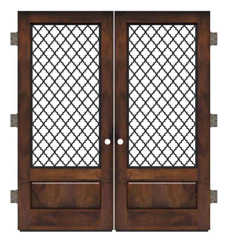 Hudson Floral Exterior Double Slab Door
