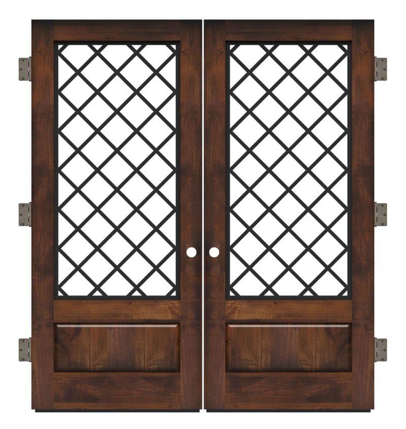 Cathedral Exterior Double Slab Door