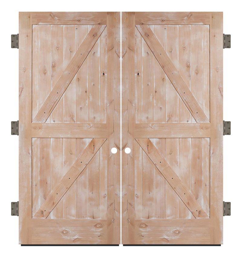 Dutch Z Exterior Double Slab Door