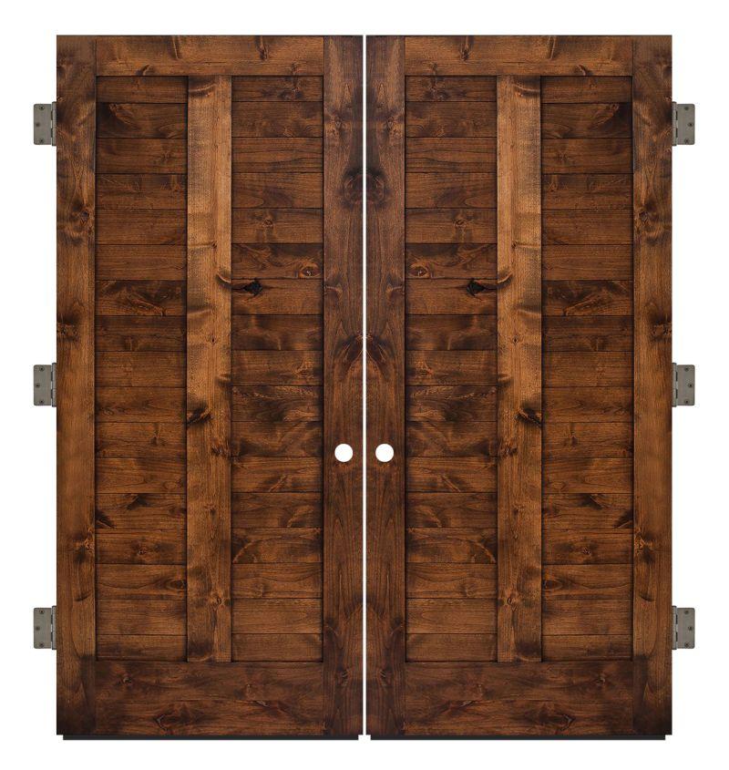 Heartland Exterior Double Slab Door