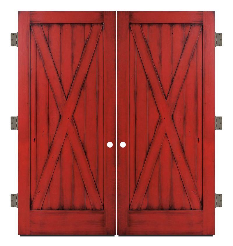 Full X Exterior Double Slab Door