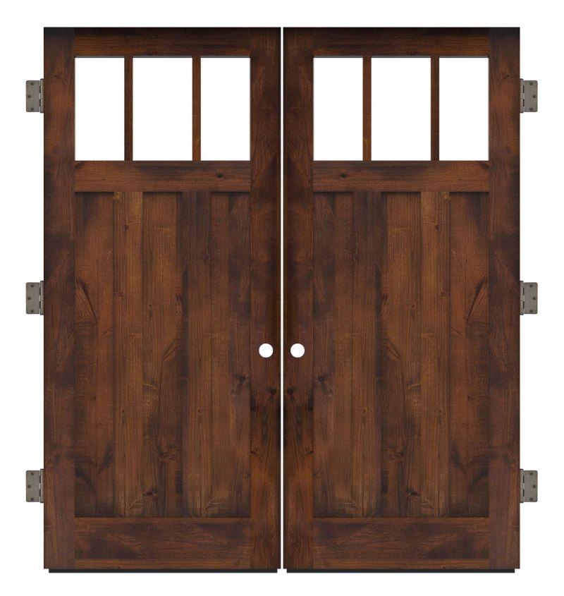Overland Exterior Double Slab Door