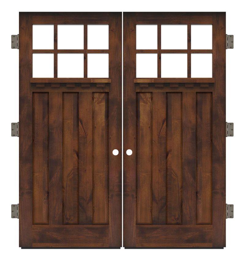 Rocky Point Exterior Double Slab Door