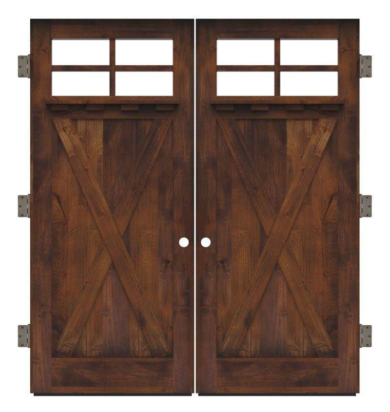 Hobble Creek Exterior Double Slab Door