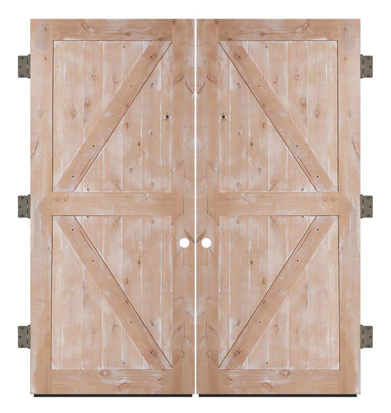 Stable Exterior Double Slab Door