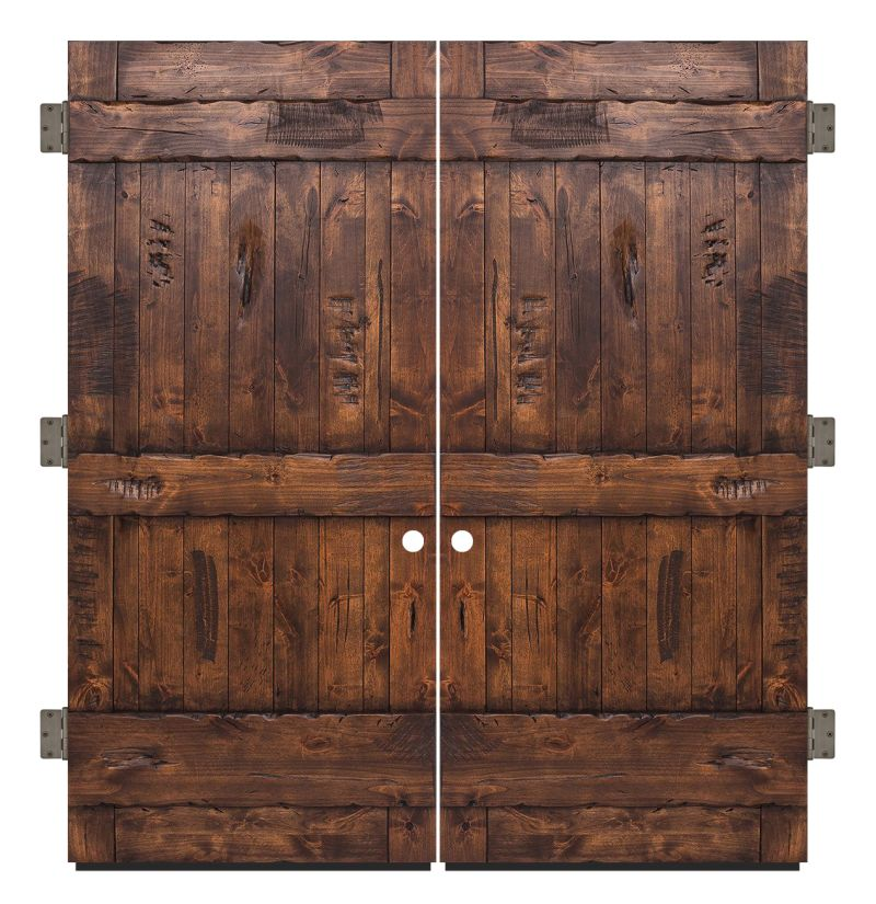 Ranch Exterior Double Slab Door