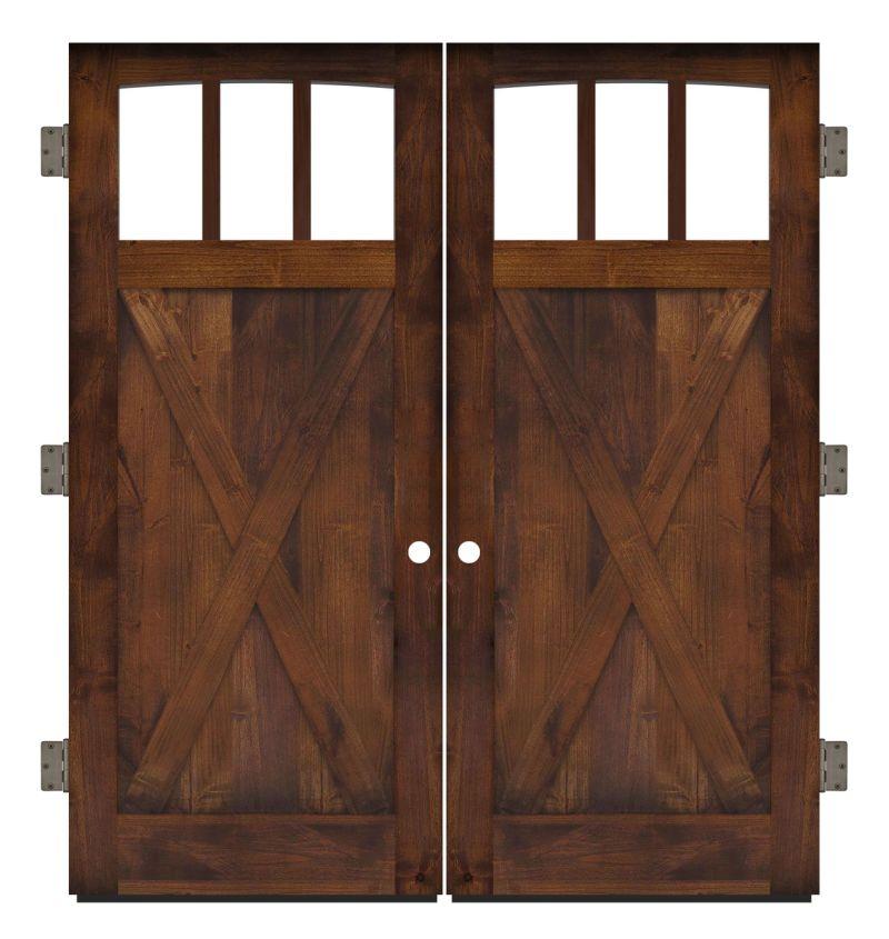 Wind Rivers Exterior Double Slab Door