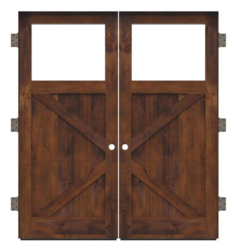 Shoemaker Exterior Double Slab Door