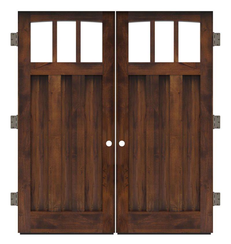 Woodsman Exterior Double Slab Door