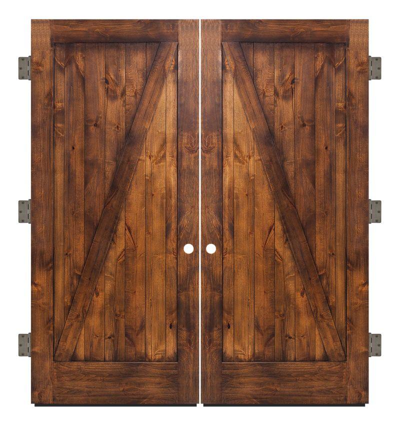 Z Exterior Double Slab Door