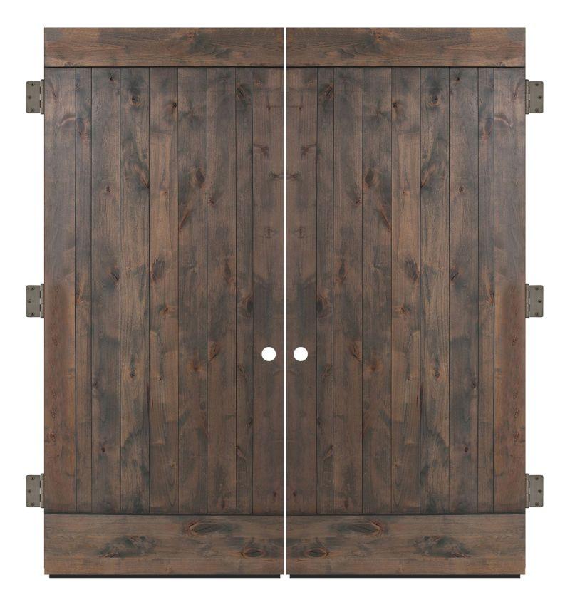 True Exterior Double Slab Door