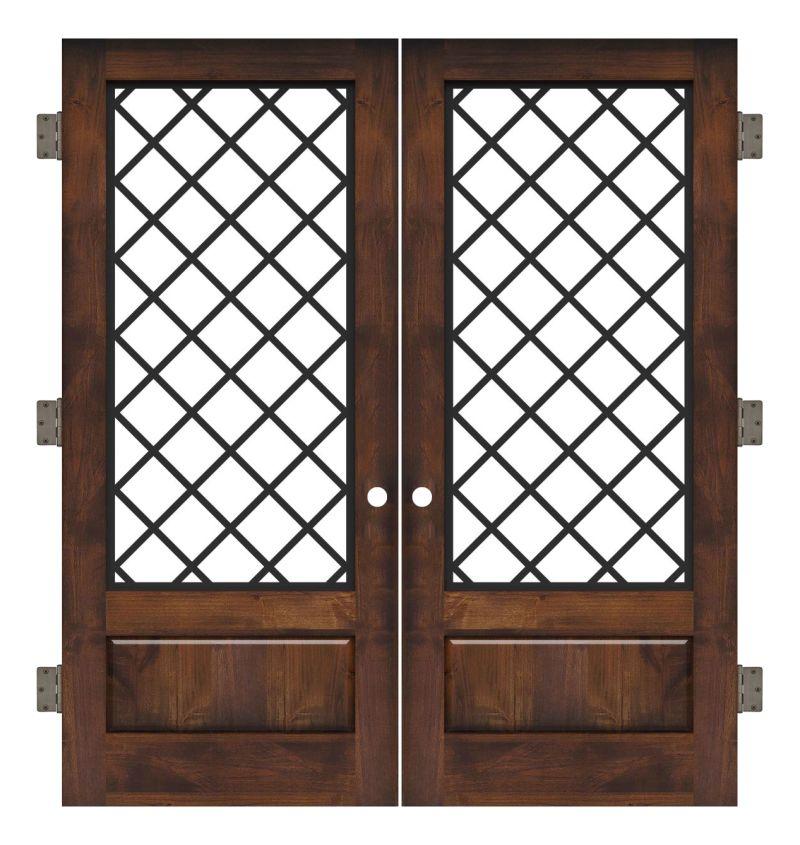 Cathedral Interior Double Slab Door