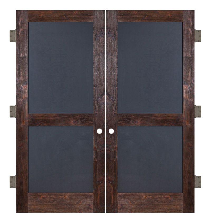 Chalkboard Interior Double Slab Door