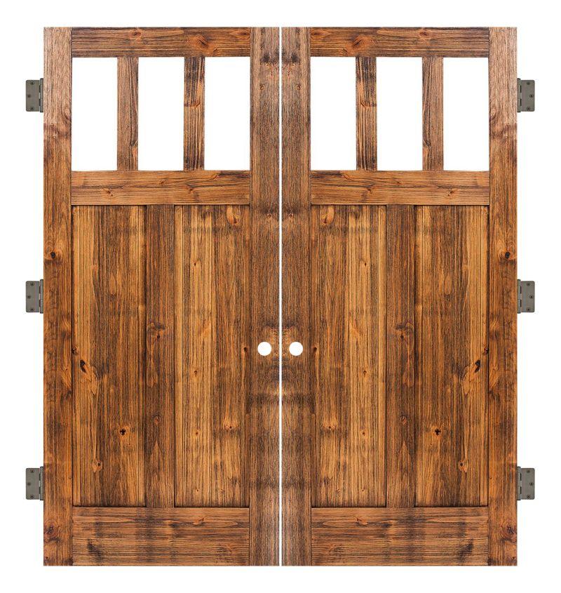 Craftsman Interior Double Slab Door
