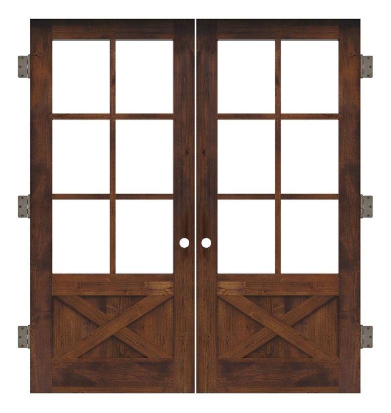 Cross Saw Interior Double Slab Door