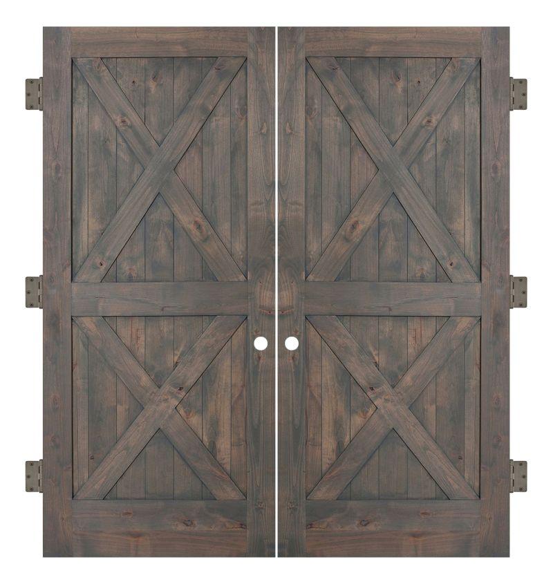 Double X Interior Double Slab Door