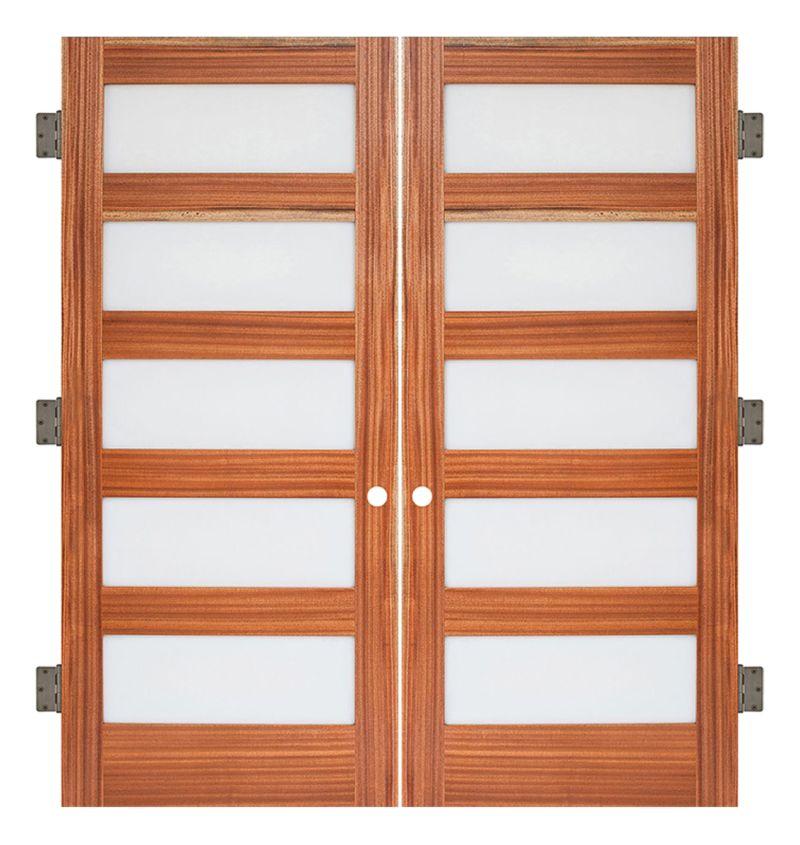 5 Panel Interior Double Slab Door