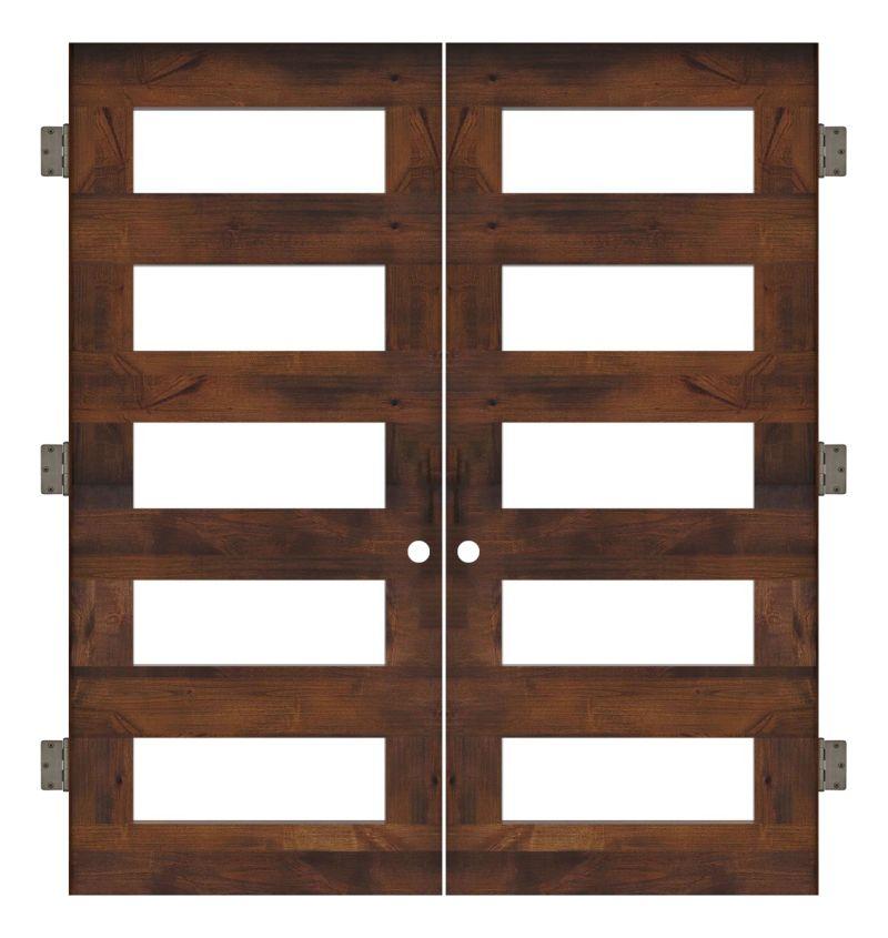 East Bench Interior Double Slab Door
