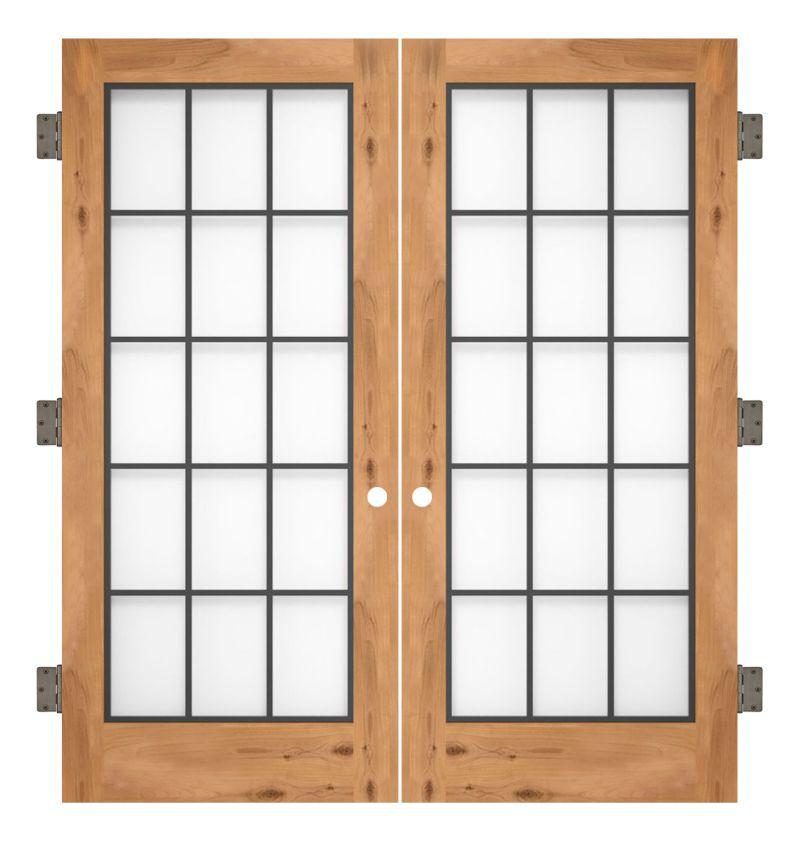 Farmhouse French Full Interior Double Slab Door