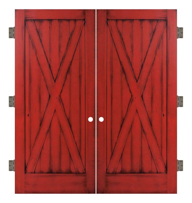 Full X Interior Double Slab Door