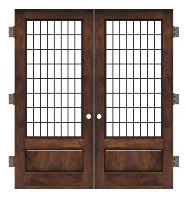 Grindstone Interior Double Slab Door